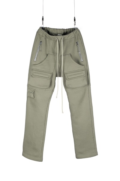 3D CLOUD SWEAT PANT_OLIVE