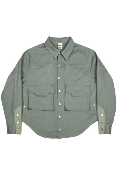 FAR FRONT LAYERED P OVERSHIRTS
