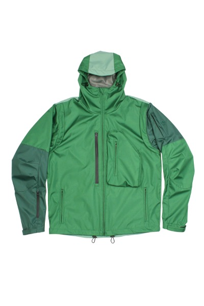 3D POCKET HOODIE JACKET (SHELL PARKA)_GREEN